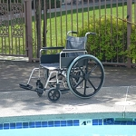 Aqua Creek 22 inch Stainless Steel Pool Wheelchair