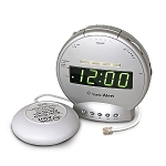 Sonic Bomb Alarm Clock with Bed Shaker and Phone Signaler