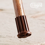 Ingrid Classic Cane or Crutch Tip - Large Brown