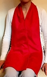 Diner Wear Cravaat Long Dining Scarf Red