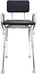 Snap-N-Save Padded Shower Chair with Armrests