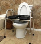 Padded Raised Toilet Seat Safety Frame