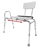 Snap-N-Save Extra Long Sliding Transfer Bench with Cut Out Seat
