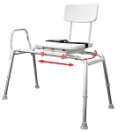 NEW! Snap-N-Save Sliding Transfer Bench with Swivel Seat 77662