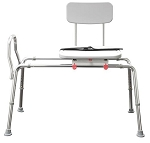 NEW! Snap-N-Save Extra Long Sliding Transfer Bench with Swivel Seat 77692