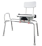 Snap-N-Save Long Sliding Transfer Bench with Cut-Out Swivel Seat