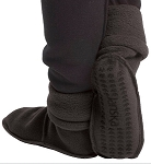 Janska Fleece MocSocks Black