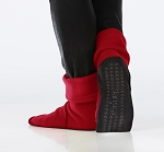 Janska Fleece MocSocks Red