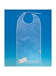 Clear Vinyl Adult Feeding Bib
