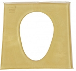 Action Akton Polymer Oval Commode Pad