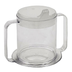 Independence Two Handle Clear Mug with Lids