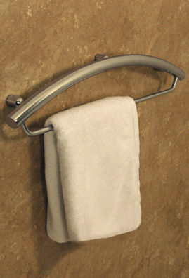 Invisia 24 Inch Towel Bar With Integrated Grab Bar Safety Bathroom Grab Bar