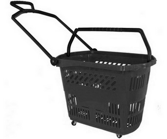 Trolley Basket 9 Gallon Black - Discontinued