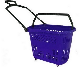 Trolley Basket 9 Gallon Blue - Discontinued