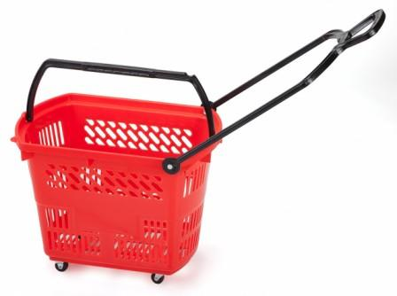 Trolley Basket 9 Gallon Red - Discontinued