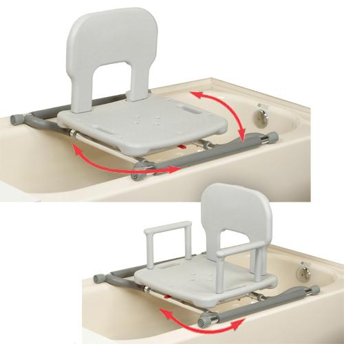 Tub Mounted Swivel Shower Seat :: swivel bath seat