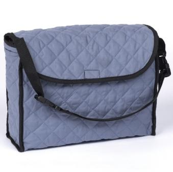 Gray Quilted Walker Tote Bag
