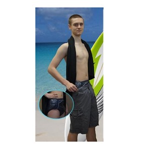 So-Secure Teen Swim Brief is designed to be worn next-to-skin under a swim suit.