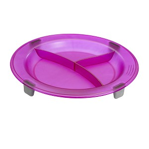 Saint Romain Eurodib Non-Slip 3 Compartment Plate Purple