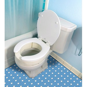 Essential Hinged Toilet Seat Riser Elongated