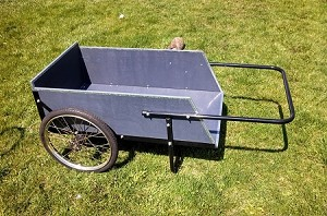 Mid-West Wooden Garden Utility Cart