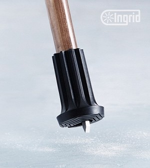 Retractable Ice and Snow Spike Tip for Canes and Crutches :: Medium