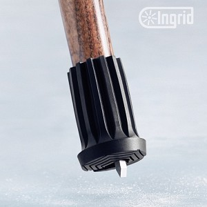 Retractable Ice and Snow Spike Tip for Canes and Crutches :: Large