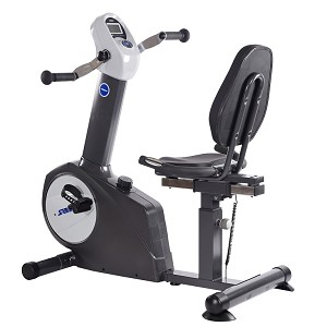 Stamina Elite Total Body Recumbent Bike Black includes both upper hand pedals and lower foot pedals for a full body workout.
