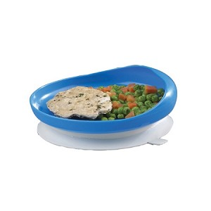 Blue Scooper Plate with Suction Base