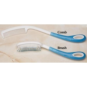 Body Care Long Handle 12 inch Brush and Comb Set