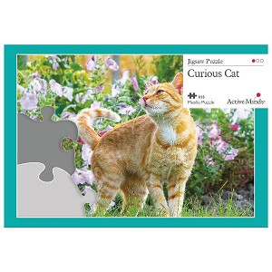 Active Minds 13 Piece Puzzle Curious Cat