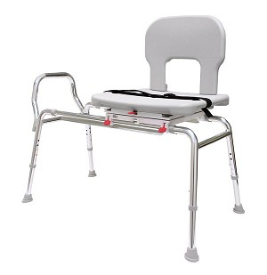 Bariatric Swivel Sliding Bath Transfer Bench Heavy Duty Tub Safety Seat
