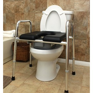Padded Raised Toilet Seat Safety Frame - Discontinued