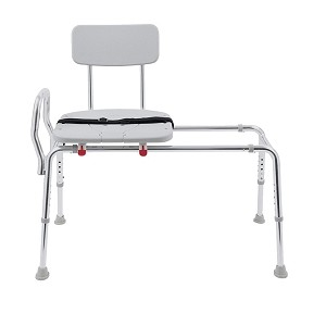 New! Snap-N-Save Sliding Transfer Bench with Molded Cut-Out Seat