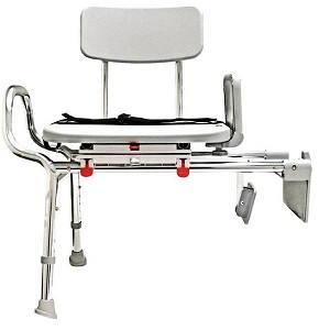 Snap-N-Save Tub Mount Transfer Bench with Molded Swivel Seat