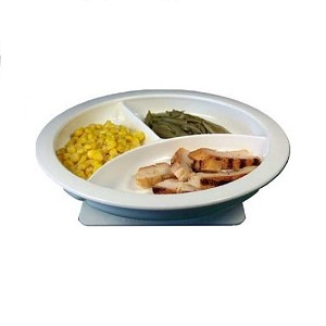 Freedom Divided Plate with Suction Pad Base