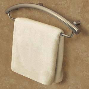 Invisia 24 inch Towel Bar with Integrated Grab Bar