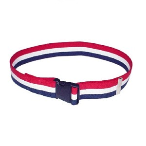 72 inch Economy Gait and Transfer Belt – Patriot Stripe- Quick Release Buckle
