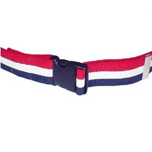 54 inch Economy Gait and Transfer Belt - Patriot Stripe - Quick Release Buckle