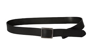 Myself Belts Adult Black All Leather Belts