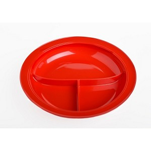 Independence Partition Plate Red
