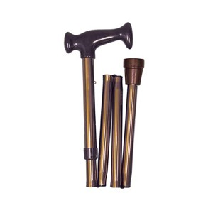 Adjustable Folding Cane with Ergonomic Handle, Bronze - Discontinued