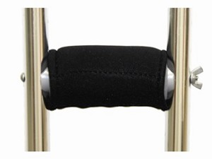 Gel Ovations™ Crutch  Handle Covers secure over the existing hand grip.
