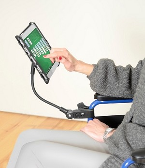 Delta Mini Tablet Holder with Flexible Arm
