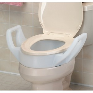Elongated Raised Toilet Seat With Arms