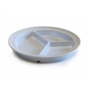 Partitioned Scoop Dinner Plate