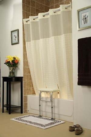 Whitaker Transfer Bench Shower Curtain Beige